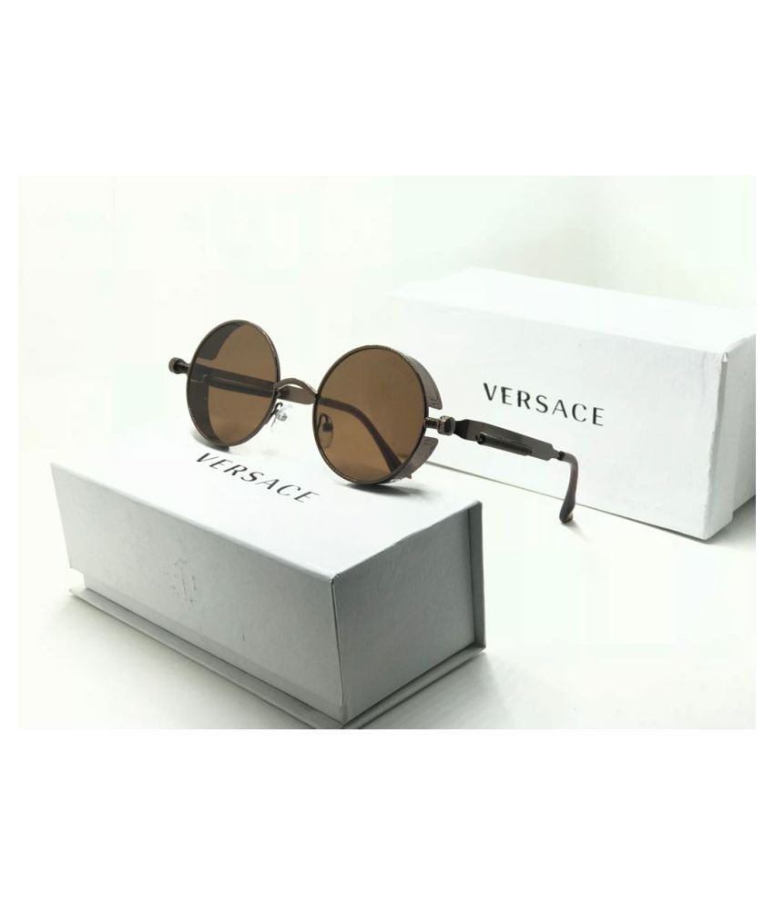 VARSACE Brown Round Sunglasses ( 45896 )