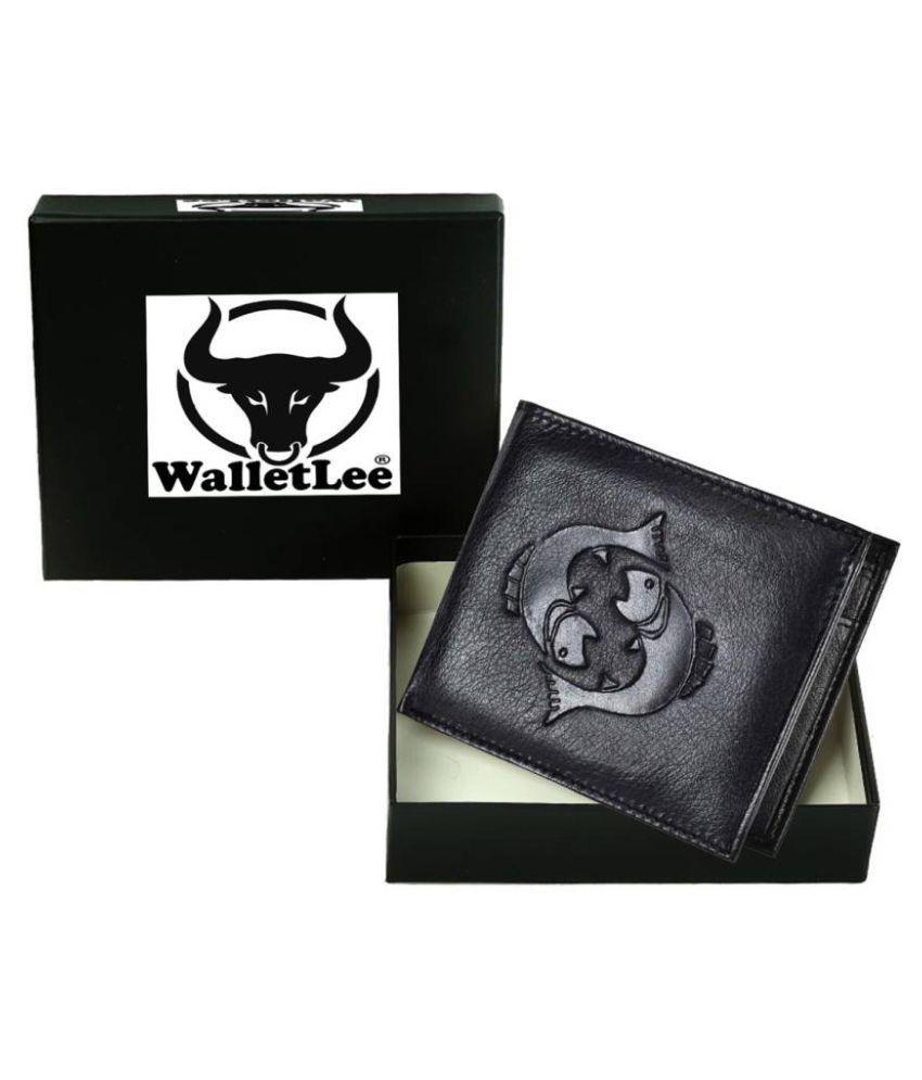 WalletLee Leather Black Formal Money Clipper