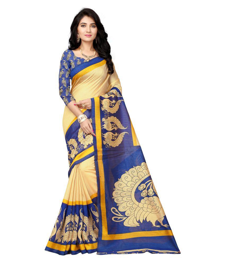 Vimalnath Sarees Blue Bhagalpuri Cotton Saree