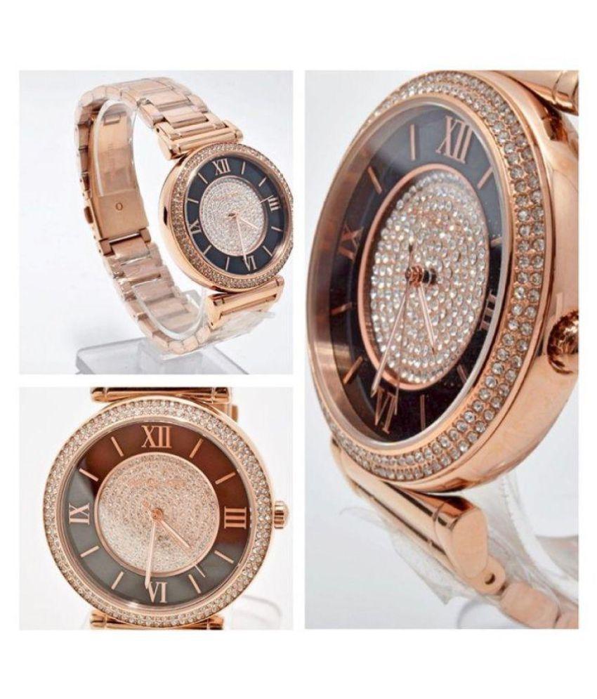 9f0a62d51214 ... Noctem MK3339 Women s Catlin Black   Rose Gold Crystal Pave Dial Rose  Gold Steel Bracelet ...