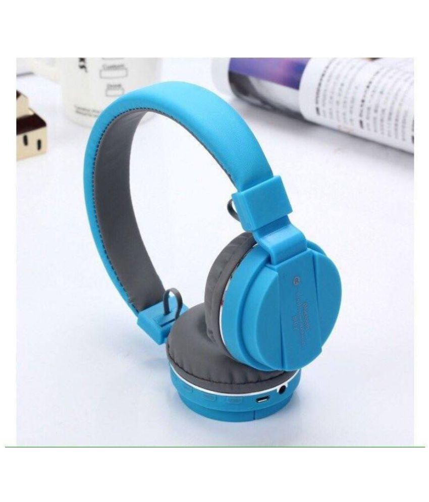 MicroBirdss MicroBirdss SH12 Blue Wireless Bluetooth Headphone Blue