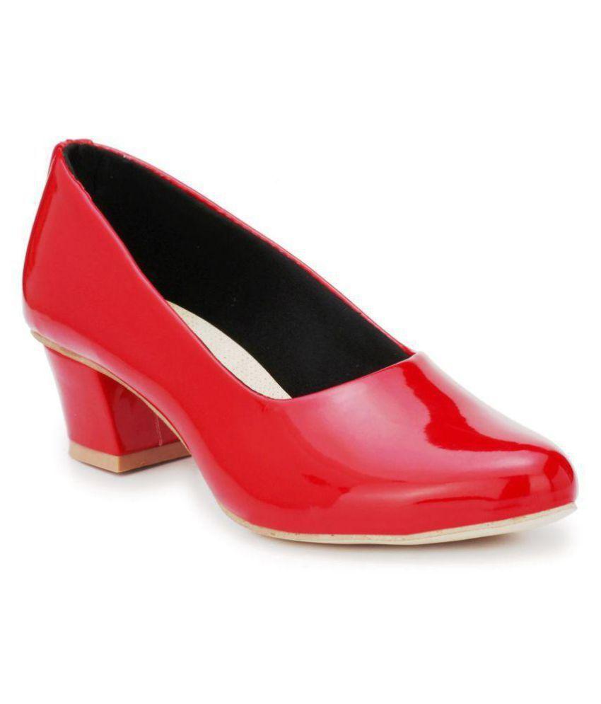 Rimezs Red Kitten Heels