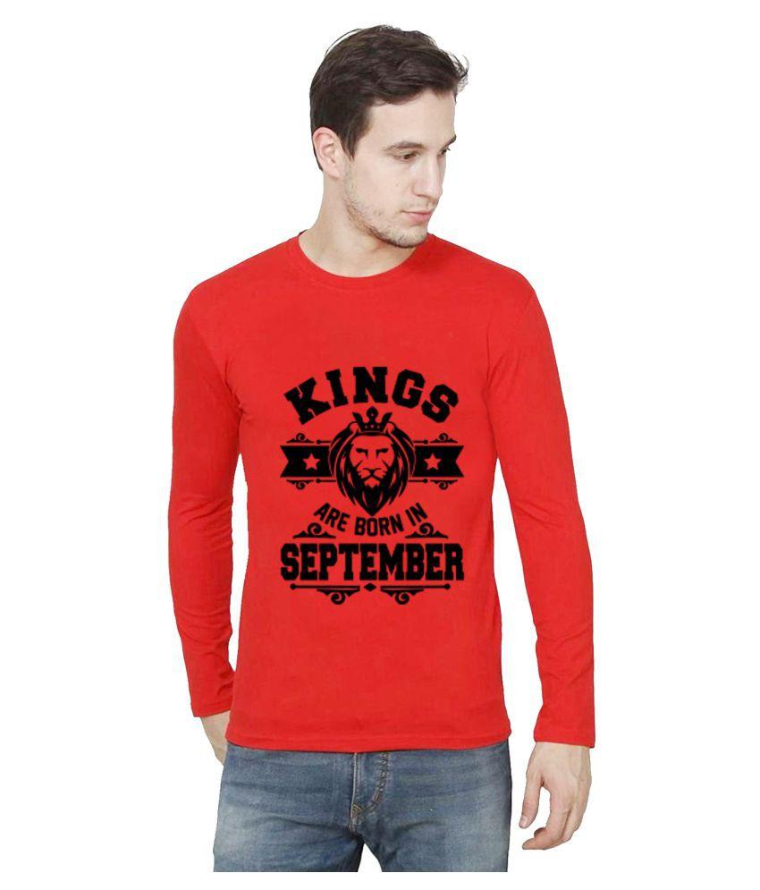 British Terminal Red Full Sleeve T-Shirt Pack of 1