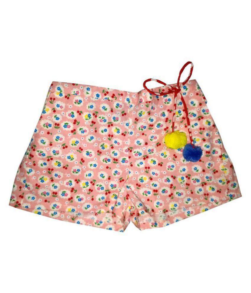 Always Kids Pink Cherry Daisy Shorts