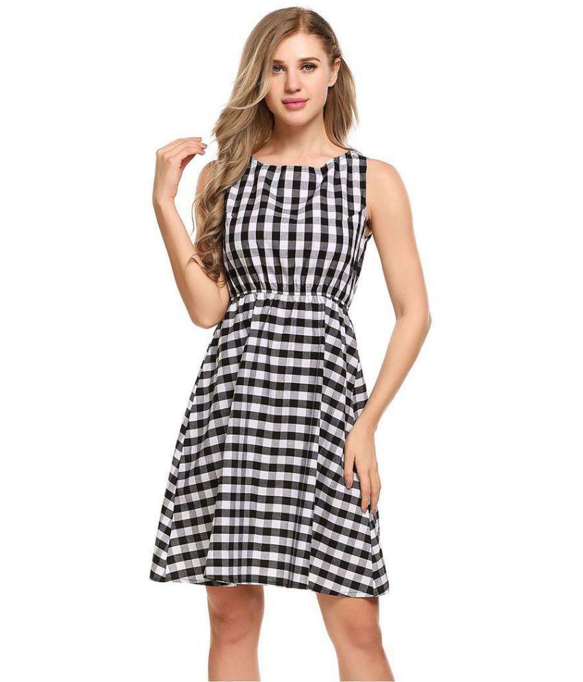 Generic Cotton black Asymmetric dress