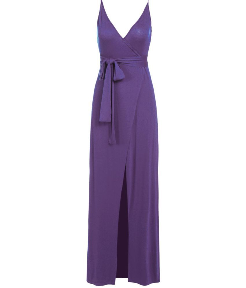 c013bf847066 Generic Rayon purple Asymmetric dress - Buy Generic Rayon purple Asymmetric dress  Online at Best Prices in India on Snapdeal
