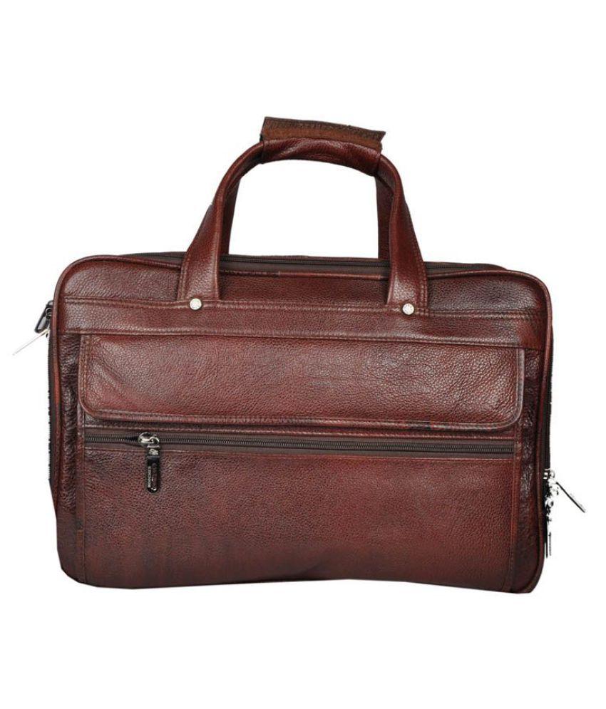 Bag Jack Arcturus Brown Leather Office Messenger Bag