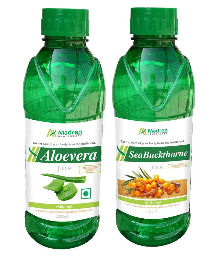 Madren Healthcare Aloevera & Sea Buckthorne  Health Drink 1500 ml