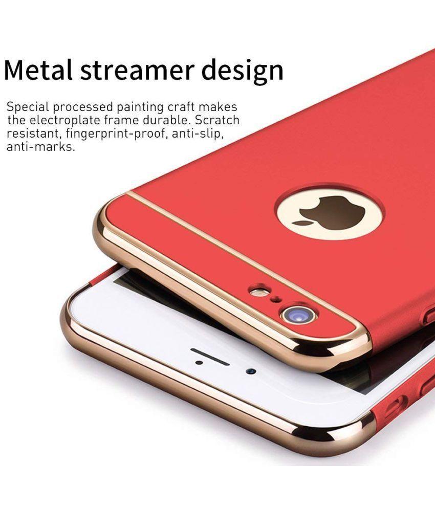 Apple iPhone 6 Plus Plain Cases FOKATKART - Red
