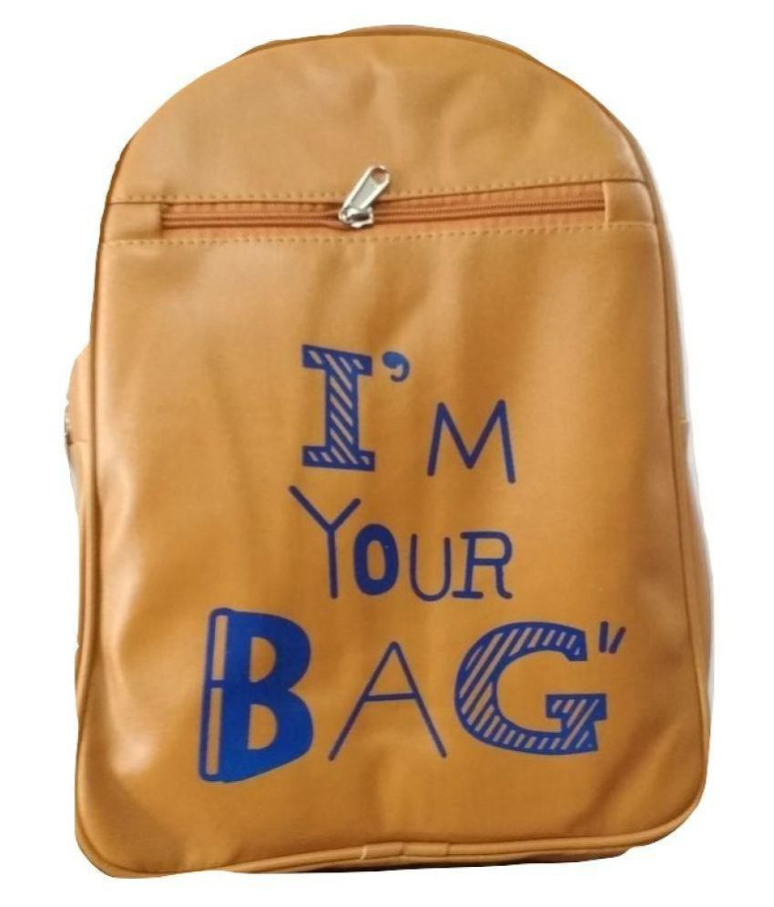Backpack light brown m bag Backpack