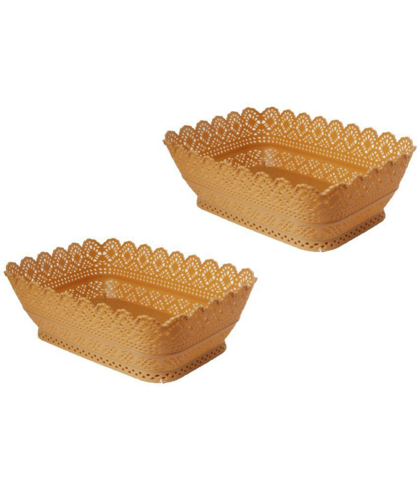 CSM Polypropelene Fruit Basket 2 Pcs
