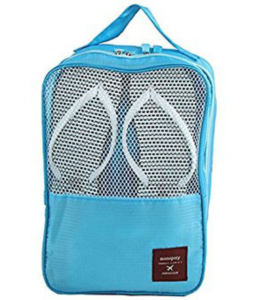 Kanha Blue 3 Layer  Travelling Shoe &  Footwear Pouch
