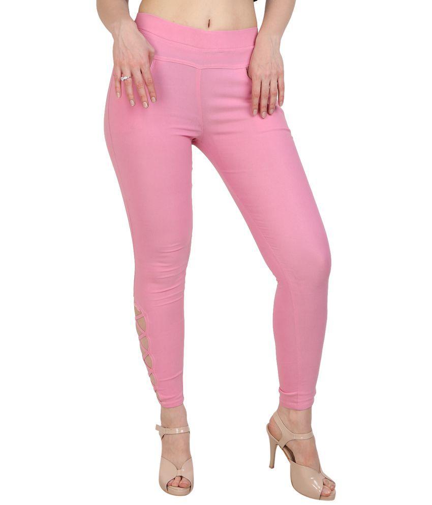 MDJ Cotton Lycra Jeggings - Pink