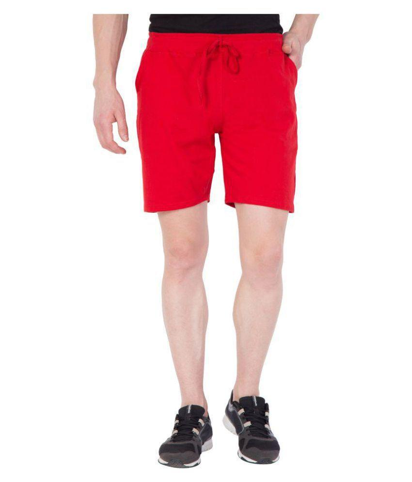 Crocodice Red Shorts