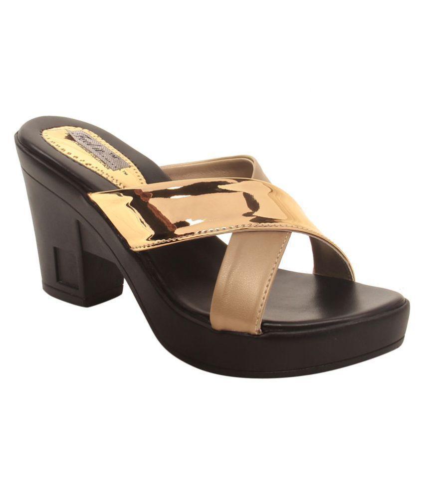 Feel It Gold Block Heels
