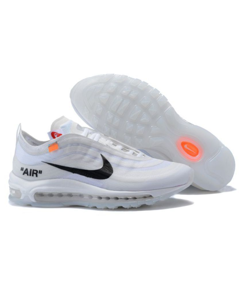 purchase cheap 4fffe 72146 Nike Air Max 97 Off-White x 2019 LTD White Running Shoes - Buy Nike Air Max  97 Off-White x 2019 LTD White Running Shoes Online at Best Prices in India  on ...
