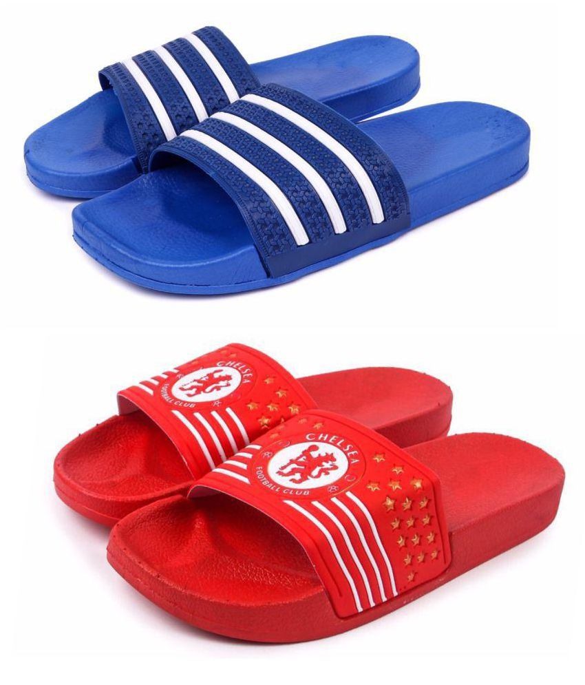 af3a210a0d8f Brauch Stripe and Chelsea Combo Multi Color Slide Flip flop Price in India-  Buy Brauch Stripe and Chelsea Combo Multi Color Slide Flip flop Online at  ...