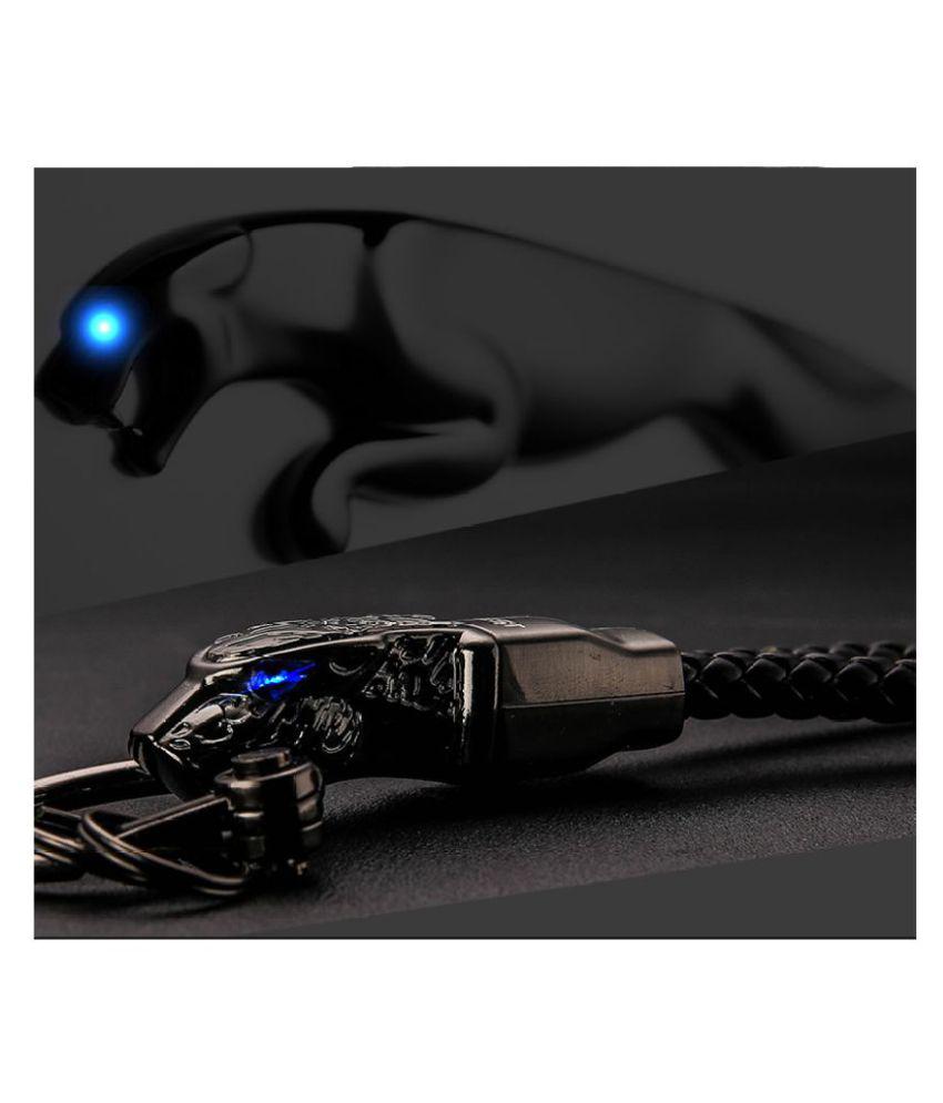 High-Grade Car KeyChain Rhinestones Custom Lettering Key Chain Best Gift Jewelry Genuine Leather Rope Leopard Bag Pendant