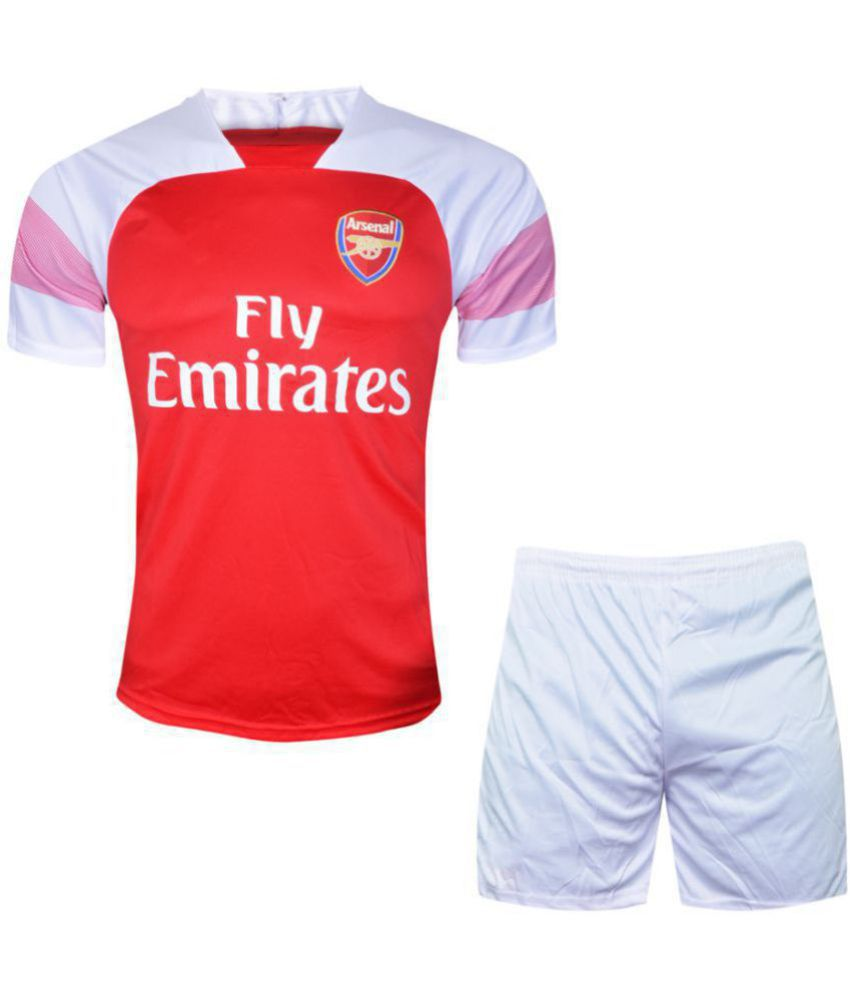 brand new 2d0a2 6a334 Kids Arsenal Football Team Fan Dry Fit Polyester Jersey With Short