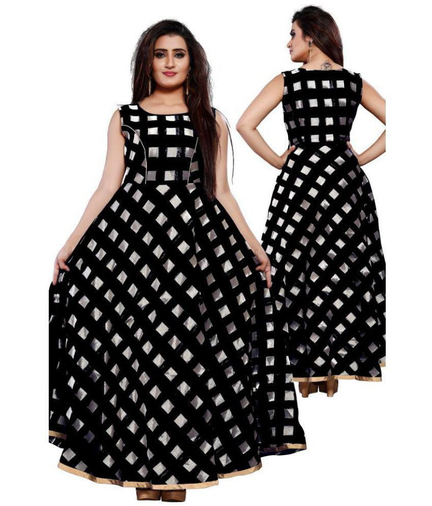 reasonable price beautiful and charming price Lee Fashion Chiffon Black Fit And Flare One piece Western Dress Women
