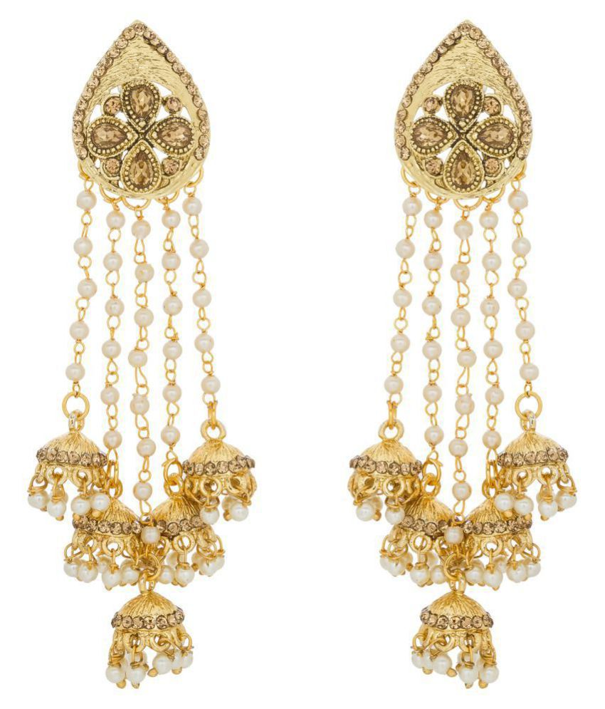 The Luxor Beautiful Golden Jhumki Tel Earrings
