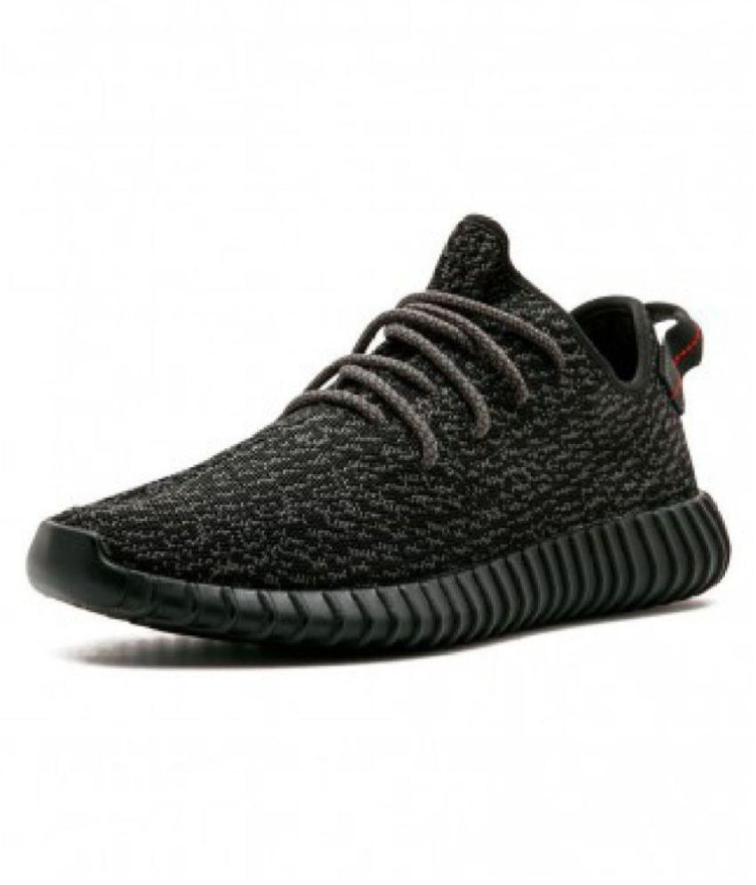 85c8861f7cf8d Adidas Yeezy Boost 350 Pirate Black Running Shoes - Buy Adidas Yeezy Boost  350 Pirate Black Running Shoes Online at Best Prices in India on Snapdeal