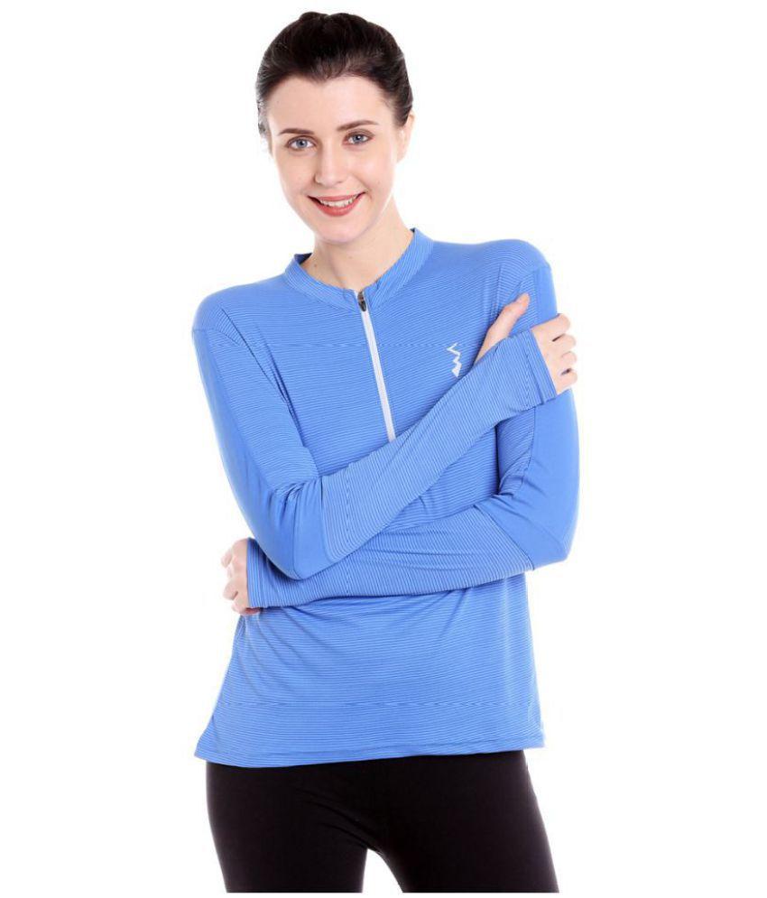 Campus Sutra Polyester Sweatshirts  amp; Hoodies   Blue