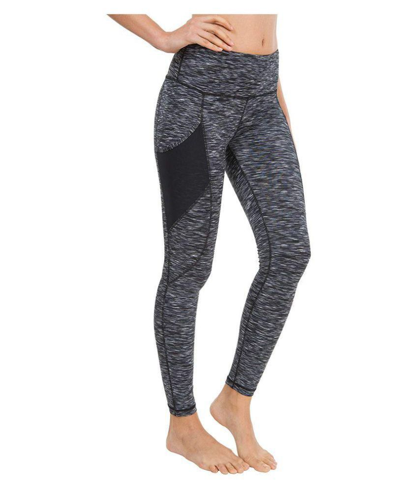 Joggers Park yoga gym and active sports fitness Black  Tights for Women