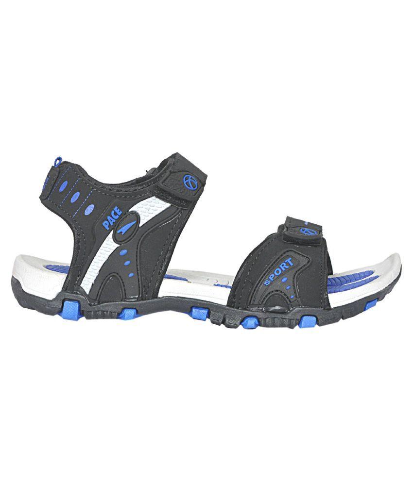 3cc86efda4e94 Lakhani Pace Blue Textile Floater Sandals Lakhani Pace Blue Textile Floater  Sandals ...