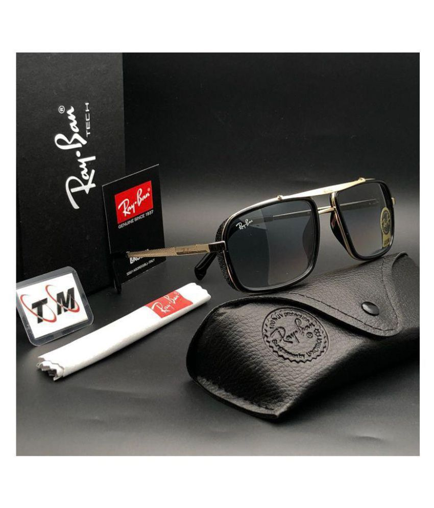 9aadd1aadc6 Ray Ban Avaitor Black Square Sunglasses ( 4413 ) - Buy Ray Ban ...