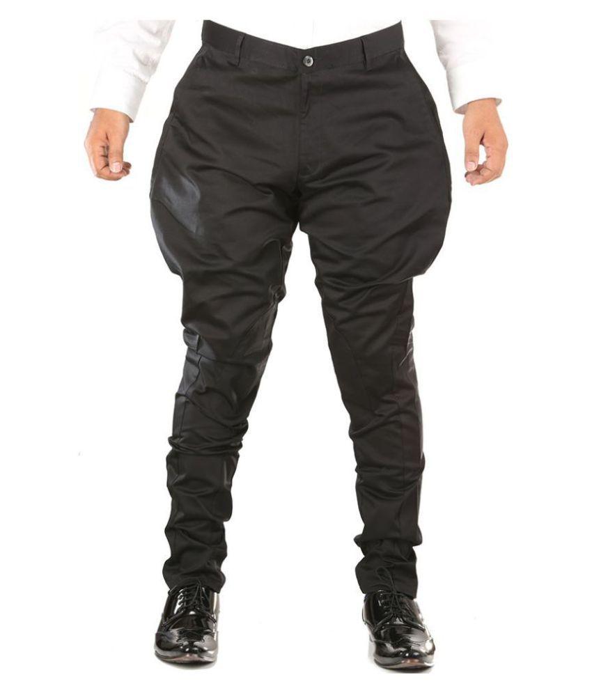 Breakthrough Black Regular -Fit Flat Jodhpuri Pants