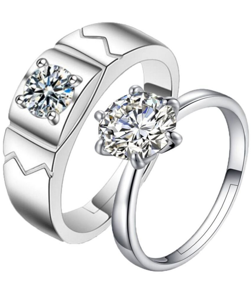 f3964f90fc ... Elements Adjustable Couple Rings: Buy King & Queen Love Forever  Sterling Silver Swarovski Elements Adjustable Couple Rings Online in India  on Snapdeal