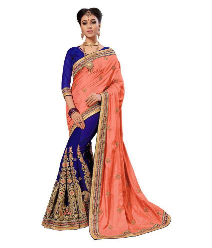 Nivah Fashion Peach Silk Saree
