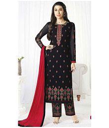 1530e2480e Quick View. Jesti Designer Red and Black Georgette Straight Semi-Stitched  Suit