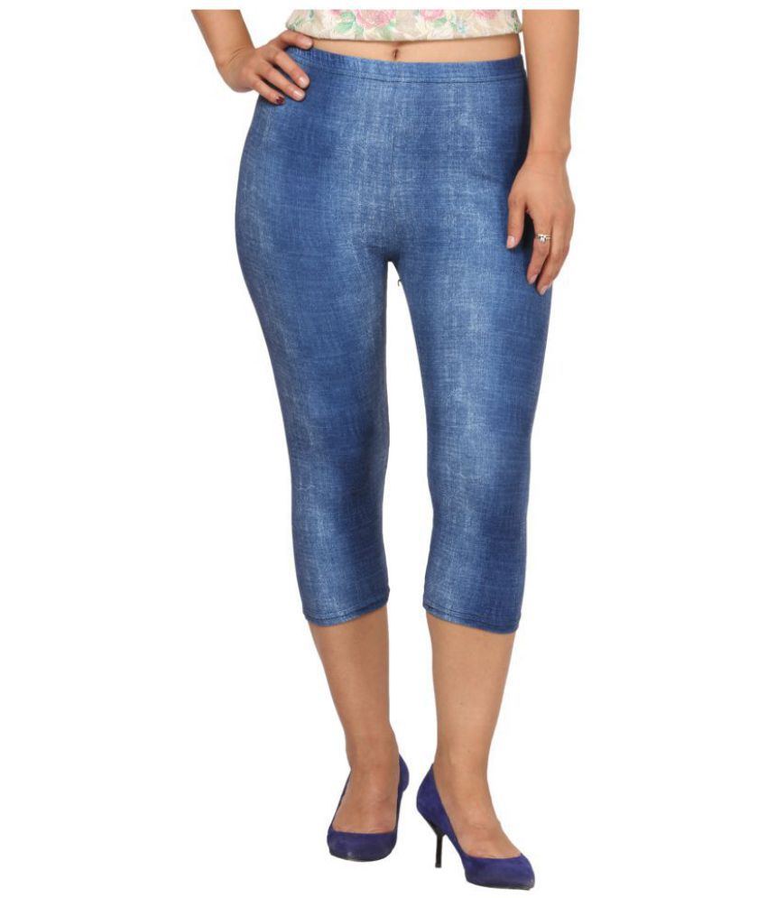 Fit 'N' You Cotton Tights - Blue
