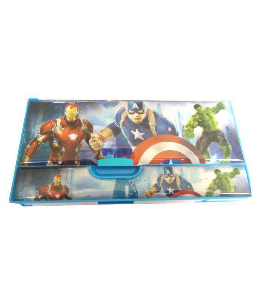 Superhero Pencil Box Return Birthday Gifts For Boys With 4 Drawers Jumbo Size At Best In