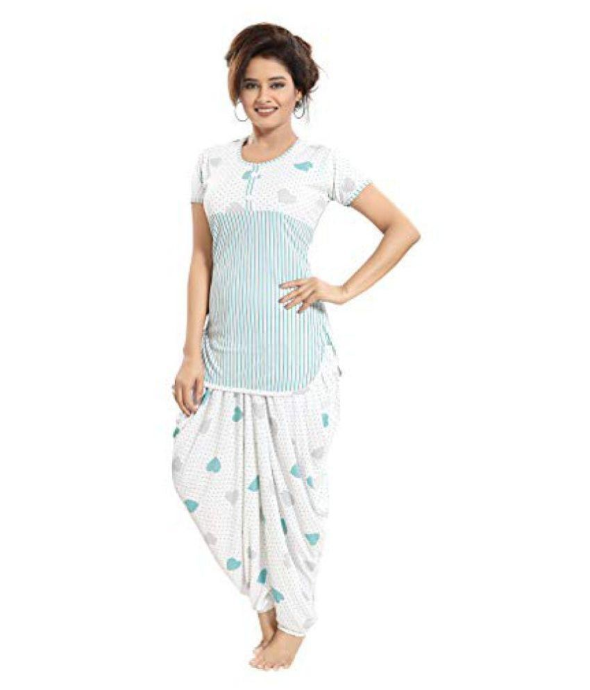 9e4236ffe5e9 Buy TUCUTE Polyester Nighty   Night Gowns - Green Online at Best Prices in  India - Snapdeal