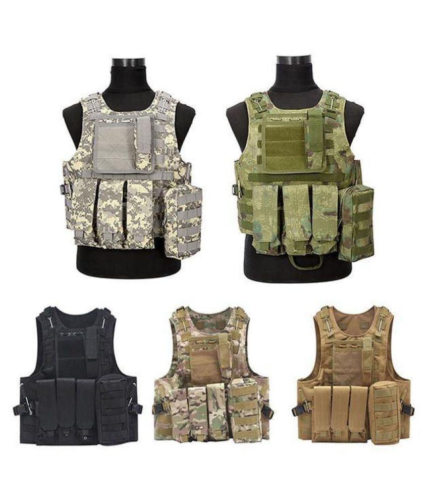 5 Colors Camouflage Hunting Military Tactical Vest Wargame Body Molle Armor CS Hunting Vest