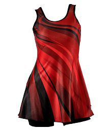 Lycot Red One Piece Swimming Costume