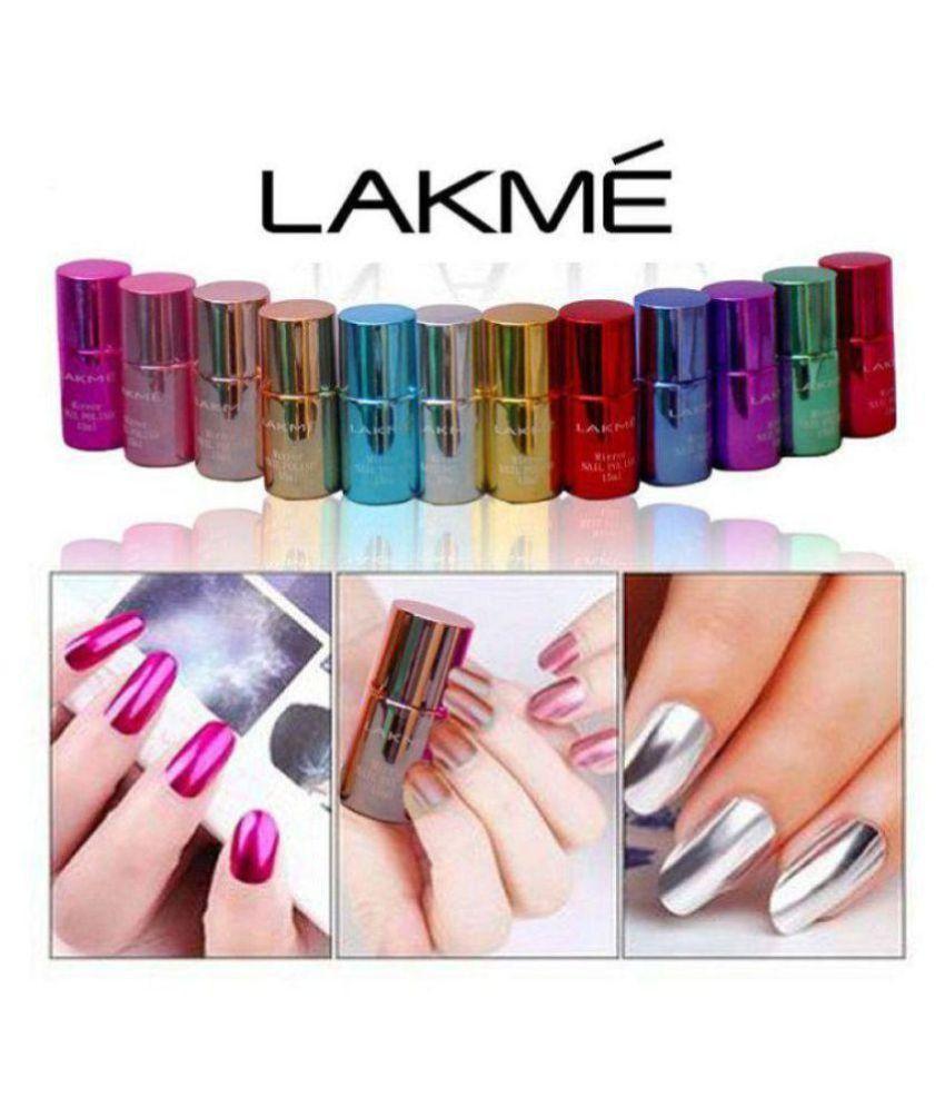 Lakme Imported Mirror Nail Polish Multi Colour Shimmer 60 ml