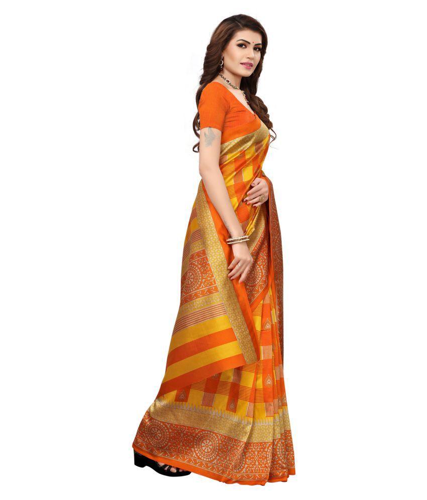 493d77df7b02d0 Swaron Yellow Art Silk Saree - Buy Swaron Yellow Art Silk Saree ...