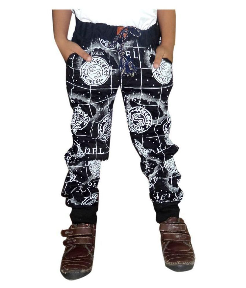 9f89bb5e AD & AV BOYS COTTON BLACK PRINT JOGGERS - Buy AD & AV BOYS COTTON BLACK  PRINT JOGGERS Online at Low Price - Snapdeal