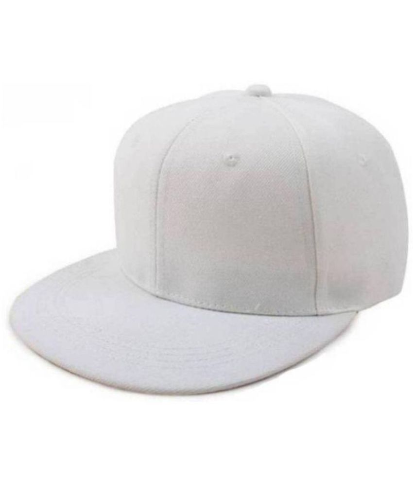 a43c3604 Plain White HipHop Caps for Boys: Buy Online at Low Price in India -  Snapdeal