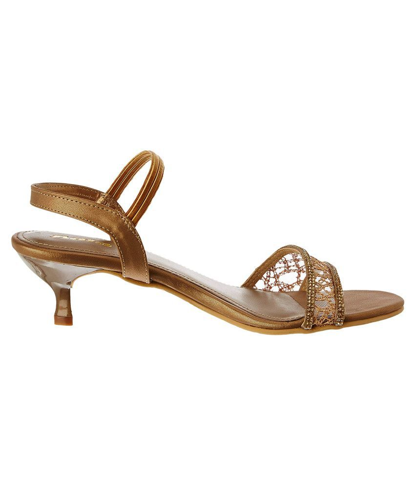 Bata Gold Kitten Heels