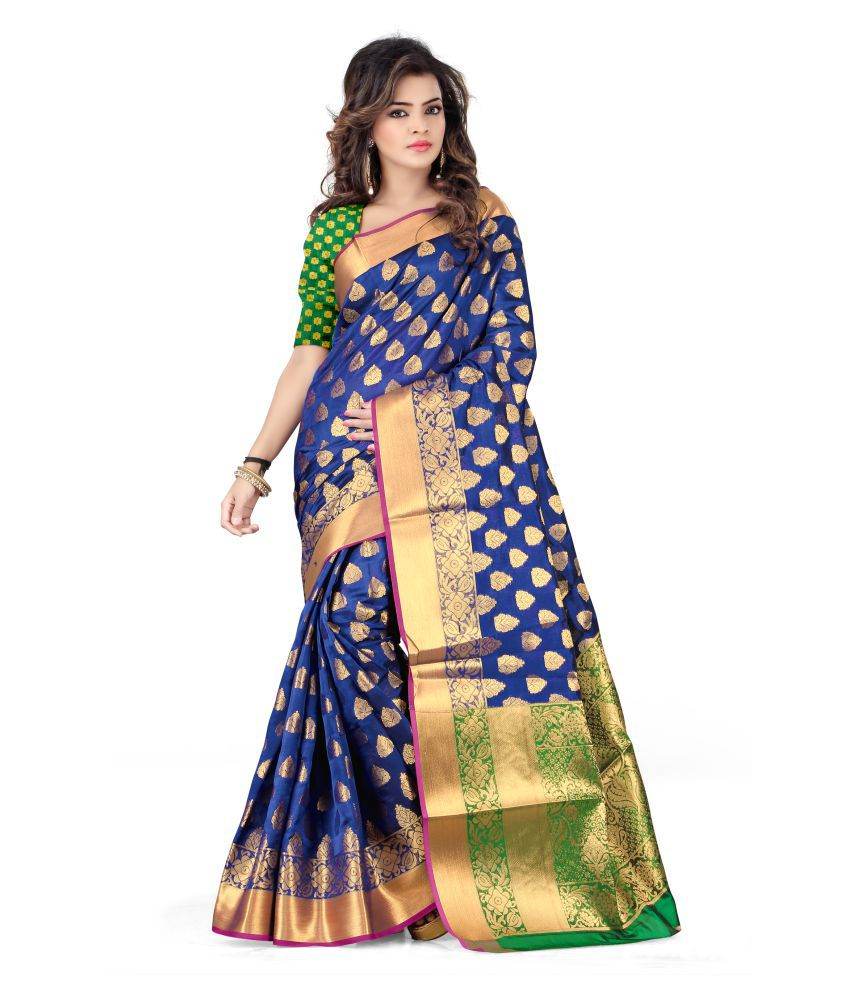 Fabian Fashion Blue Silk Saree