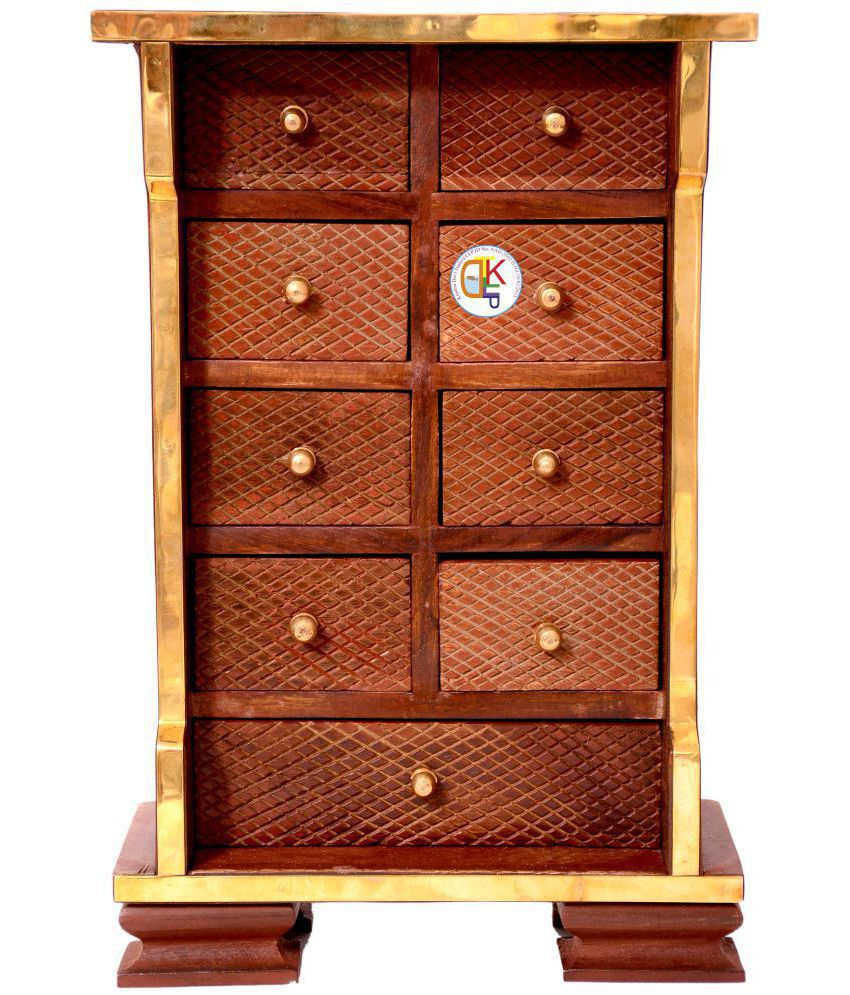 KDT Brown Wood Decorative Box - Pack of 1