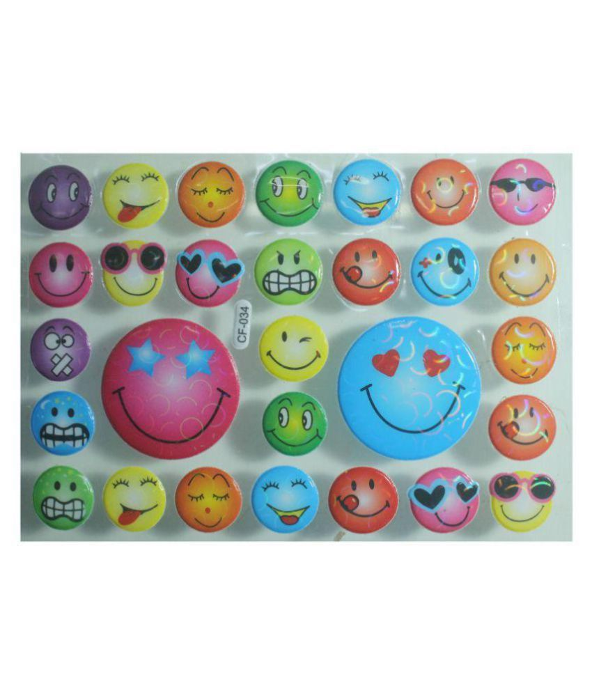 Smiely Emoji Shaped 3D Sticker For Art & Craft Accessories.A.P-108