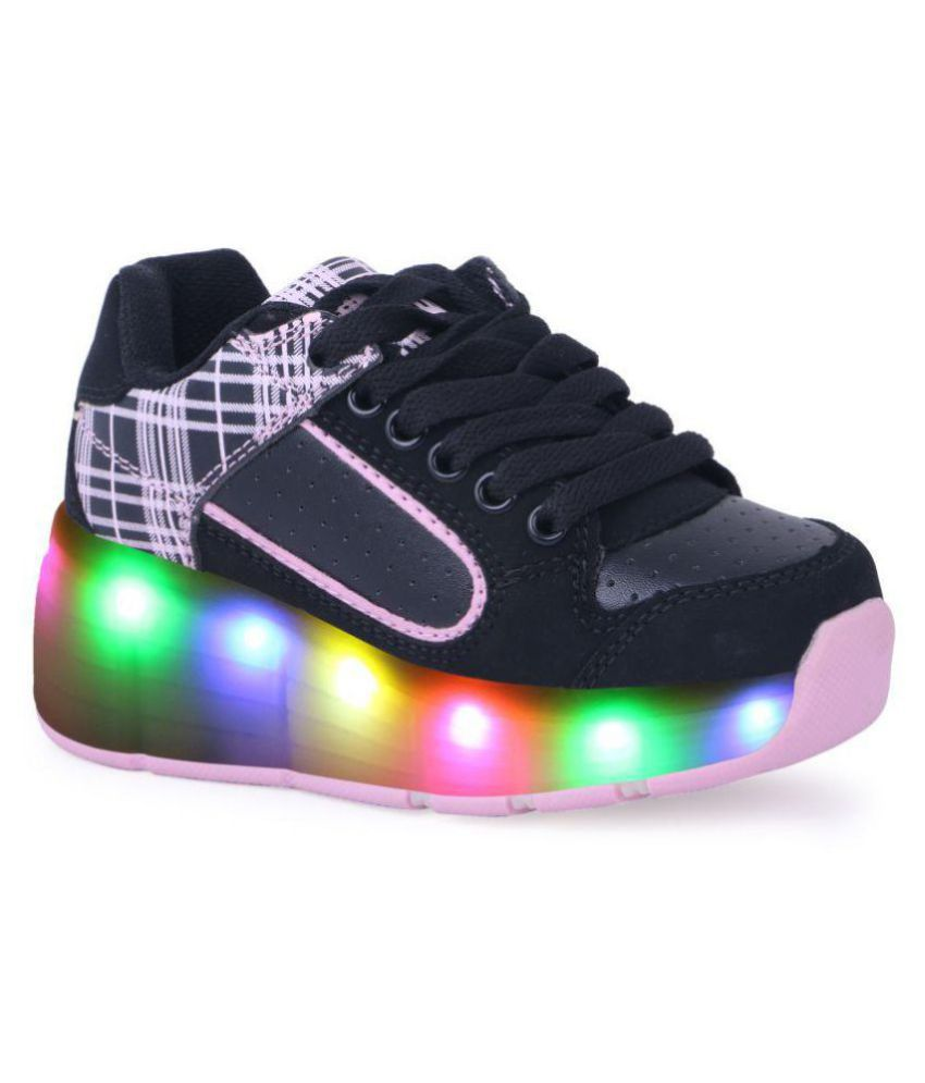 Tepcy Black Color Stylish LED Light Up Casual Kids Shoes Price in ... 13d4da2daf3e