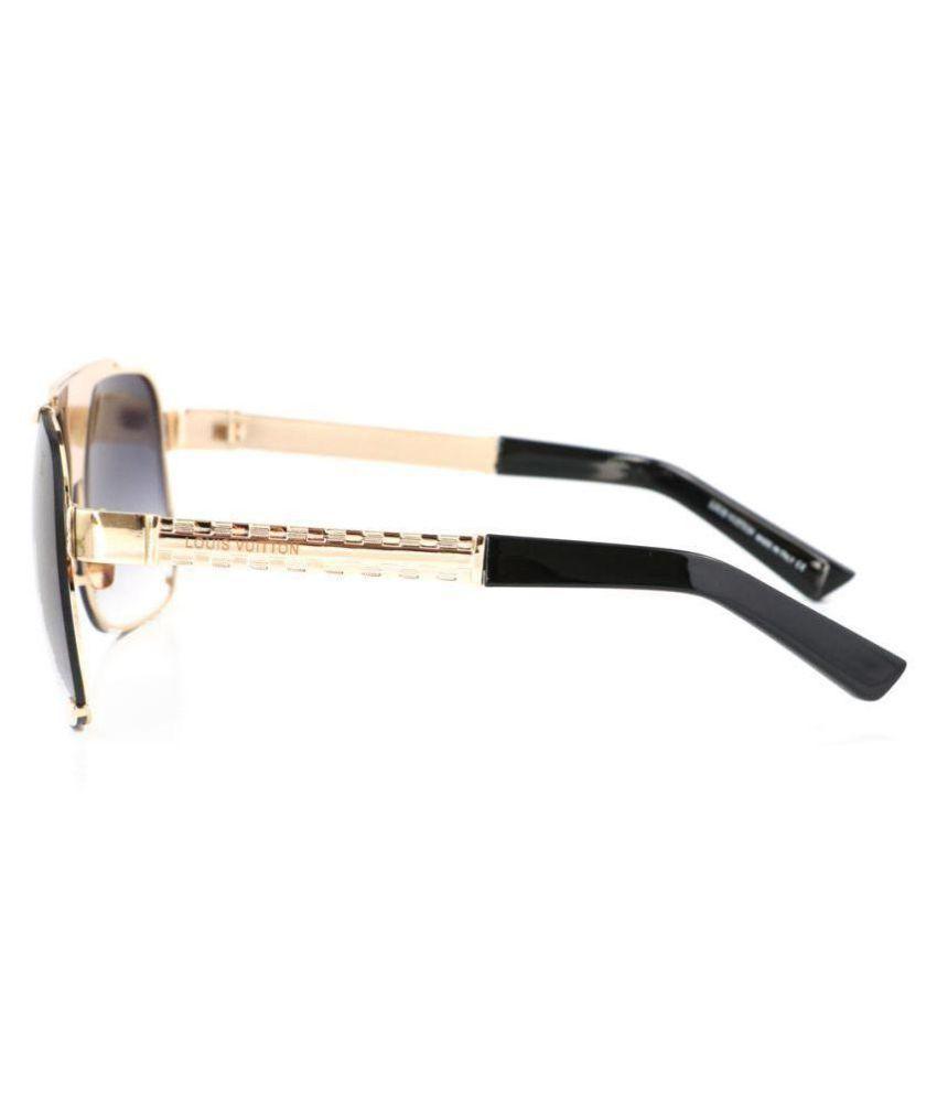 4afa9c5dfd LOUIS VUITTON SUNGLASSES Black Aviator Sunglasses ( L5996 ) - Buy ...