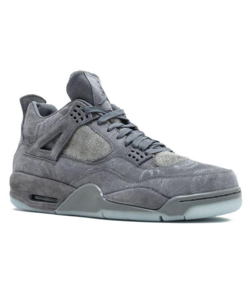 bd3c2819612 Nike Jordan Retro 4 Kaws Gray Basketball Shoes - Buy Nike Jordan ...